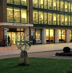 Birkbeck's main building at night